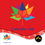 Canada 150 Flag Red Thumbnail