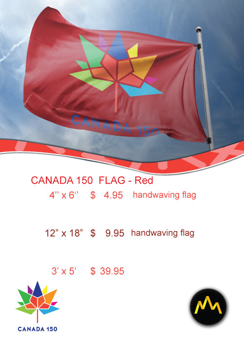 Canada 150 Red Flag Price