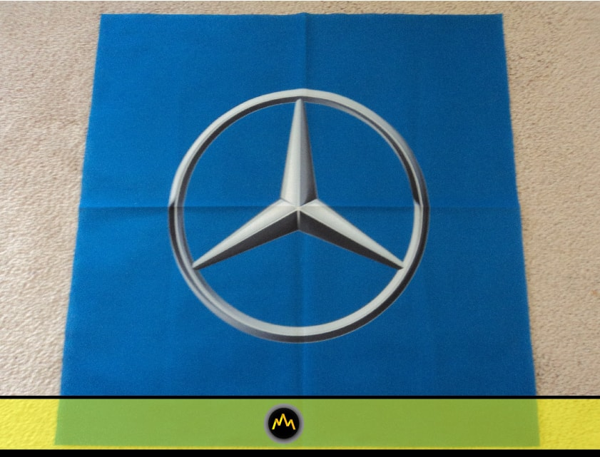 Mercedes Message Flag