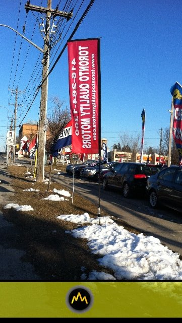 Toronto Quality Motors Flags